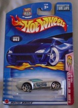 Hot Wheels 2003 Flamin' Hot Wheels Pony-Up 3/5 SILVER #62 #062 1:64 Scal... - $4.99