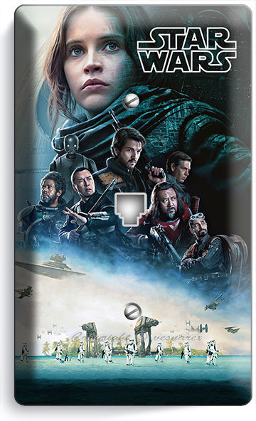 STAR WARS ROGUE ONE STORY JEDI REBELS PHONE TELEPHONE WALL PLATE ART COVER DECOR
