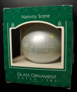 Hallmark Keepsake Christmas Ornament 1985 Nativity Scene Glass Original Box - $12.99