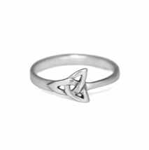 Silver Celtic Trinity Knot Ring, 925 Sterling Silver, Irish Triquetra Ring - £9.53 GBP