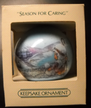 Hallmark Keepsake Christmas Ornament 1982 Season For Caring Satin Ball B... - $6.99