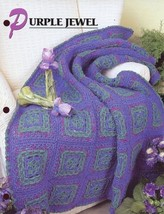 Purple Jewel Afghan Annie's Attic Crochet PATTERN/INSTRUCTIONS/NEW - $2.22