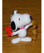Peanuts Snoopy Keychain Gold Hearts with Scisso... - $10.00