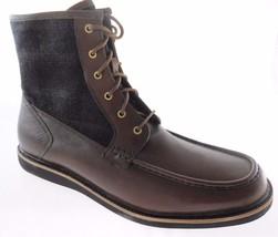 ROCKPORT V74591 MEN'S DK BROWN PLAID MOC TOE BOOTS SIZE 11, 13 - $90.19