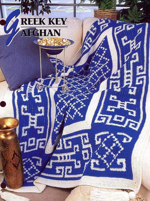 Greek Key Afghan Annies Crochet Pattern And Similar Items