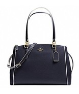NWT Mini Christie Carryall Eggepaint Crossgrain Leather F37762 - $187.61