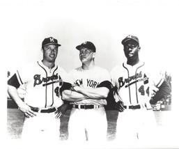 Mickey Mantle Hank Aaron E Matthews 8X10 Photo New York Yankees Baseball Picture - $3.95
