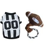 Brogan's Heroes Referee Dog Shirt & Plush Rope Puppy FOOTBALL Toy  - $14.99