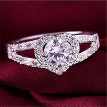 Romantic White Topaz Heart Ring Free Shipping - $23.00