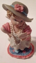 1995 Ganz Figurine #A1883 Angel Face Perfect Little Place Holding Mirror - $9.84