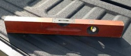 "Level, Vintage Stanley SW No. 104 Genuine Cherry 12"" Level, Made in the USA - $20.00"