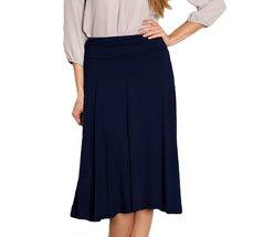 DBG Women's Navy Midi Flare Skirt-L - $23.75