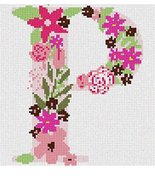 pepita The Letter P Flowering Needlepoint Canvas - $40.00