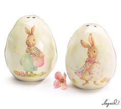 Bunny Rabbit Dimple Eggs Salt and Pepper Shaker... - $14.95