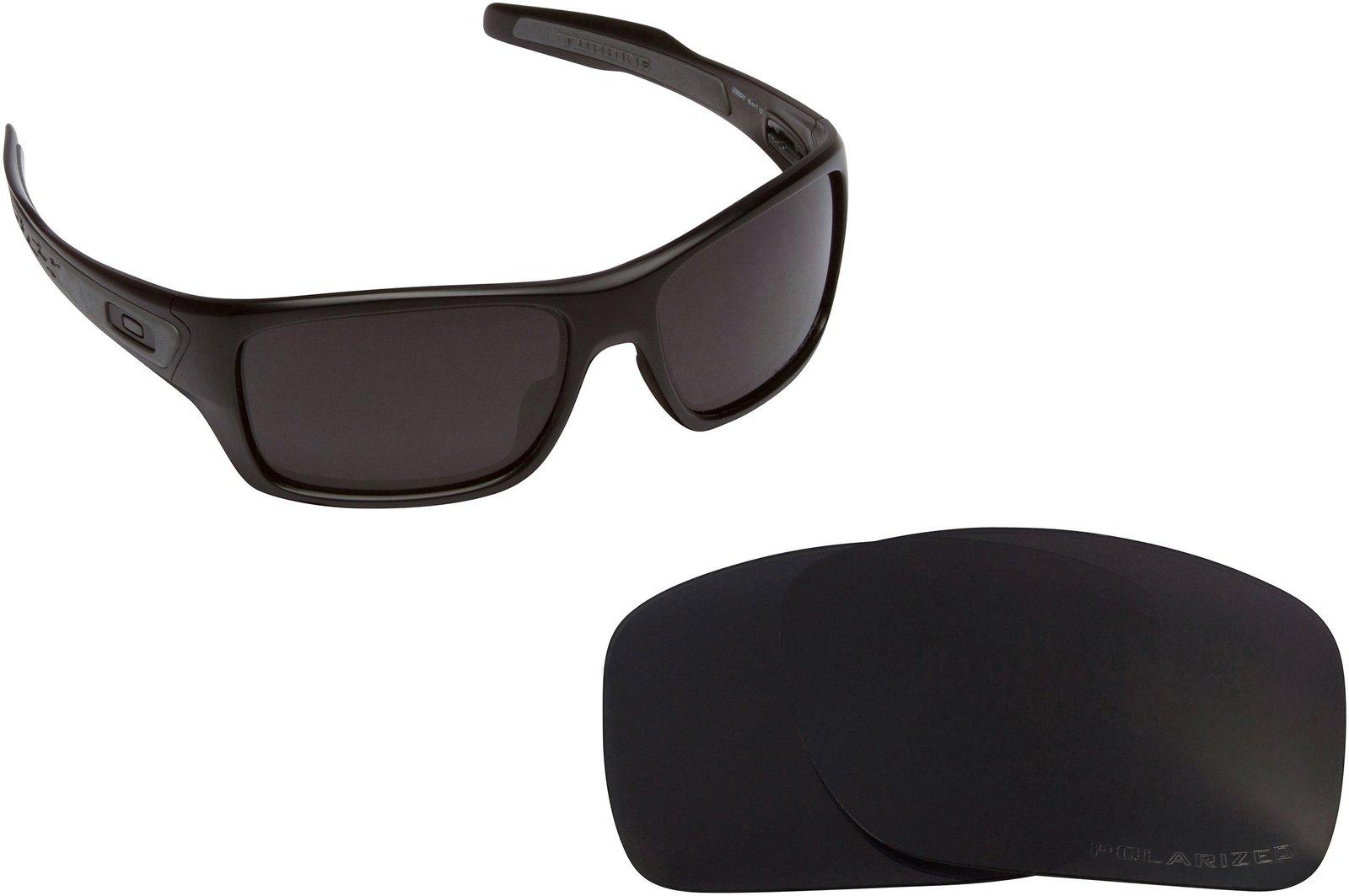 b8dcd807e5bf7 New SEEK Replacement Lenses Oakley TURBINE - Polarized Black Black Iridium