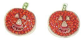 Shoppingbuyfaith Rhinestone Pumpkin Post Earrings Halloween - £9.10 GBP