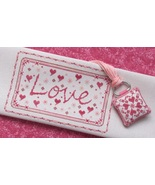 CLEARANCE Endearing Love cross stitch chart T.A... - $6.00