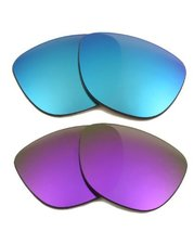 New SEEK Replacement Lenses Oakley FROGSKINS - Polarized Blue Purple - $25.73