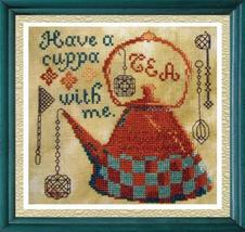 Clearance Have A Cuppa + Floss Bundle Tea Cross Stitch Chart Tempting Tangles - $29.00