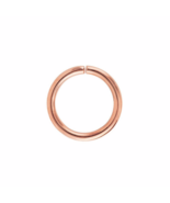 Rose Gold Endless Hoop, Rose Gold Over Sterling Silver, 20 Gauge Seamles... - $3.65+
