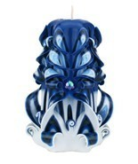 Carved Candles Blue Black White Paraffin Wax Unscented Free shipping - $40.94 CAD