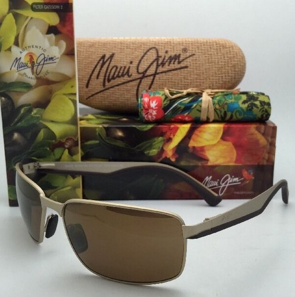 Polarized MAUI JIM Sunglasses BACKSWING MJ 709-16A Matte Gold Frame w/HCL Bronze