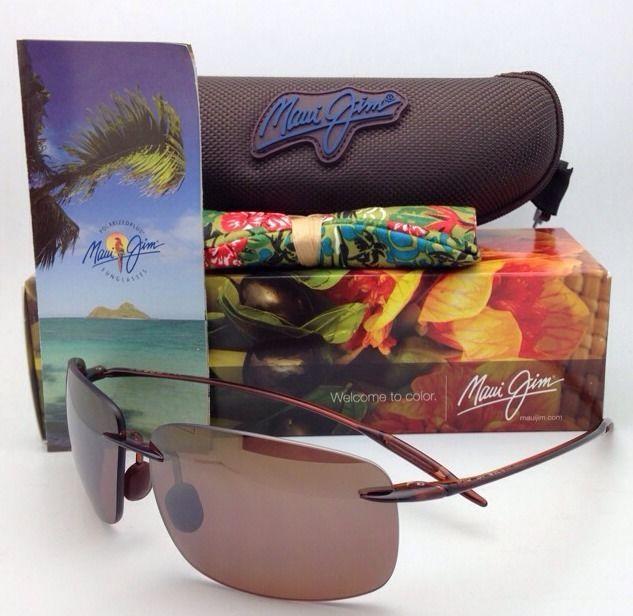MAUI JIM Sunglasses BREAKWALL MJ H 422-26 Rootbeer w/ HCL Polarized Brown Lenses