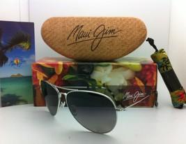 MAUI JIM Titanium Sunglasses MAVERICKS GS 264-17 Silver w/Neutral Grey Polarized image 3