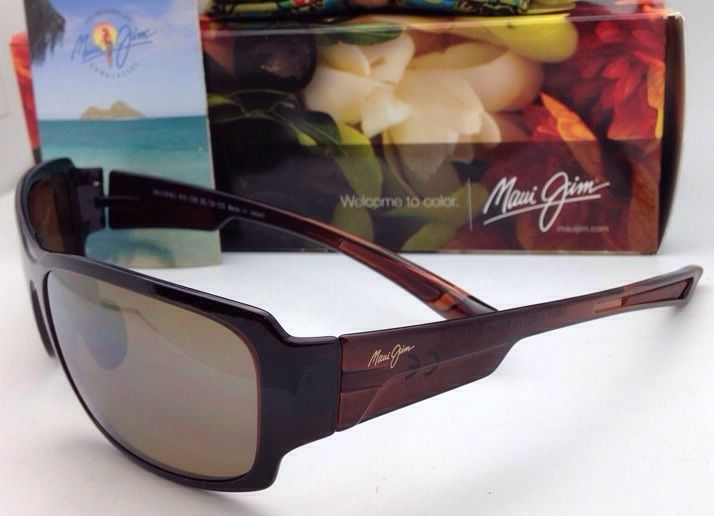 Polarized Maui Jim Sunglasses MJ H 415-26B BAMBOO FOREST Rootbeer w/ Bronze Lens