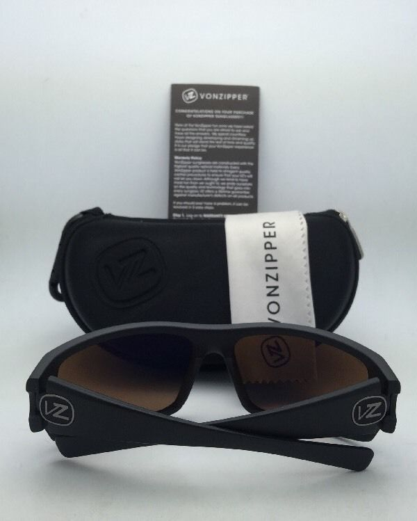 Polarized VONZIPPER Sunglasses VZ SUPLEX Matte Black Frame w/ VPG Blue Mirror