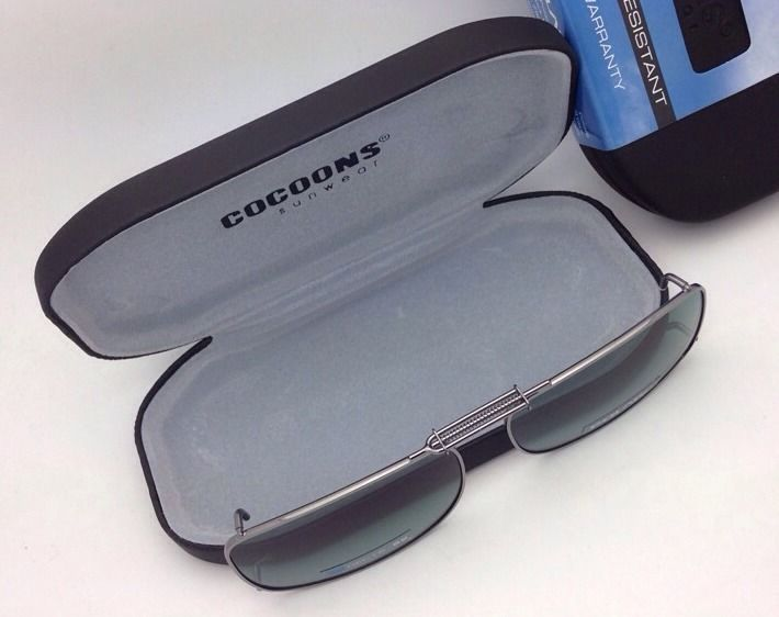 c2d8f81032b COCOONS Grey Polarized Sunglasses Eyeglasses Over Rx Clip-on REC 15-52  Gunmetal