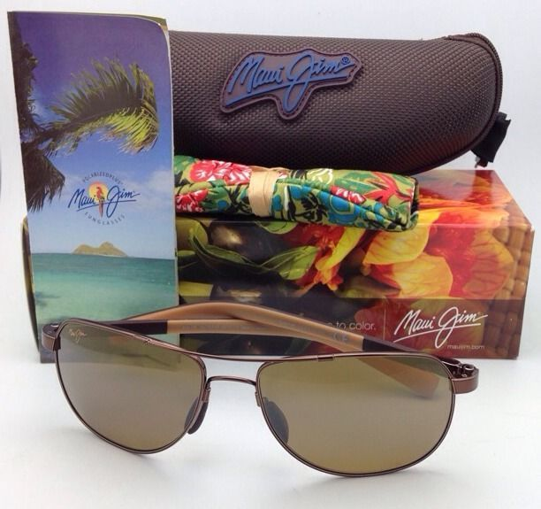 MAUI JIM GUARDRAILS Sunglasses MJ 327-23 Copper Frames w/Bronze Polarized Lenses