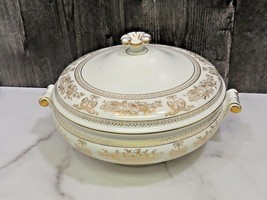 Wedgwood COLUMBIA GOLD White Round Covered Vegetable Bowl w/ Lid - $126.72