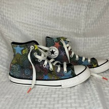 Converse All Star Chuck Taylor High Top Kids Size 2 Colorful Stars Mosaic - $17.82