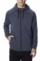32 Degrees Heat ,Men's Full Zip Hoodie Jacket Sweatshirt, Blue, Size XL - $42.56
