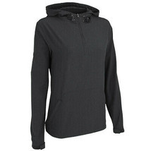 Women's Pullover Water Resistant Quarter Zip Up Drawstring Hood Pullover  XL image 2