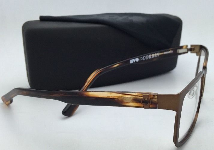 New SPY Optic Eyeglasses CORBIN SRX00069 53-18 Brown Frame w/ Clear Demo Lenses