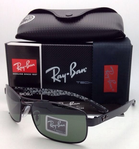 f6c499bcaf New POLARIZED RAY-BAN Tech Series Sunglasses RB 8316 002 N5 62-18 Black w  Green