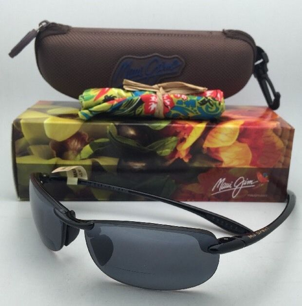 MAUI JIM Sunglasses MAKAHA READER + 1.5 G 805-02 15 64-15 Black w/ Neutral Grey