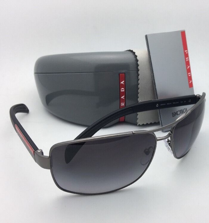 6880acdfd07cd Polarized PRADA Sport Sunglasses SPS 54I 7CQ-5W1 65-14 Gunmetal w  Grey