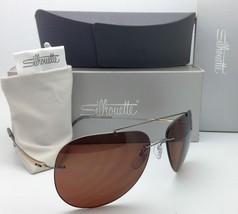 3601aac8c90 Titanium SILHOUETTE Sunglasses 8650 6201 Gunmetal-Gold   Brown Polarized...  -  239.95 · Add to cart · View similar items