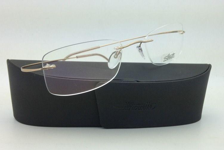 New SILHOUETTE Eyeglasses TITAN MINIMAL ART 7799 6051 Gold 52-21 150 Demo lenses
