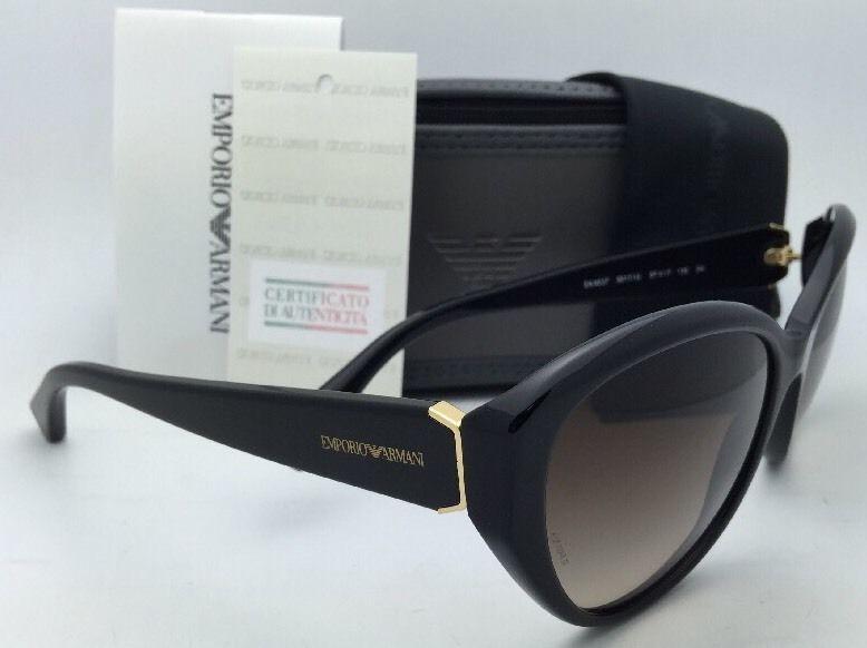 d1f8f17a2a3a New EMPORIO ARMANI Sunglasses EA 4037 5017 13 Black   Gold w Brown gradient