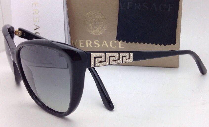 84a6746bec New VERSACE Sunglasses VE 4264-B GB1/11 Black Cat Eye Frame w/