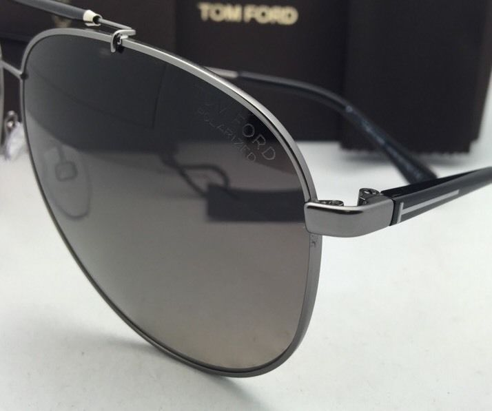 d9763b3376e Polarized TOM FORD Sunglasses RICK TF 378 10D 62-13 Gunmetal+Black Frames  w Grey