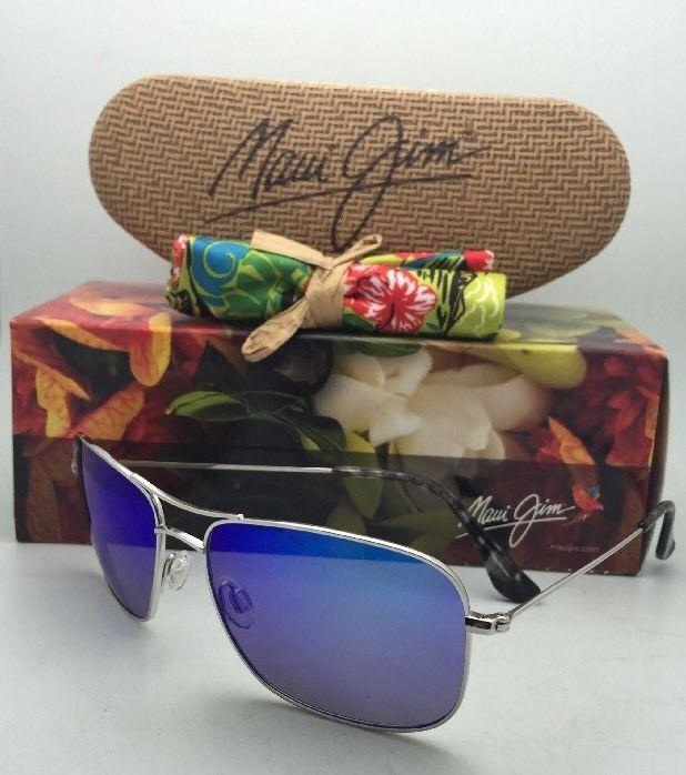 a3cfbc00f092 Polarized MAUI JIM Sunglasses Titanium WIKI WIKI MJ 246-17 Silver w