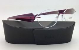 New SILHOUETTE Eyeglasses MYSTERO 6699 6052 54-17 Burgundy w/ Clear Demo lenses image 3