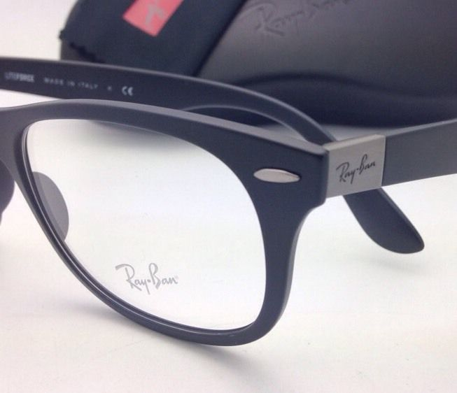 4ff9552e61c1a ... New RAY-BAN Eyeglasses LITEFORCE RB 7032 5204 50-17 Matte Black Frames  Demo ...