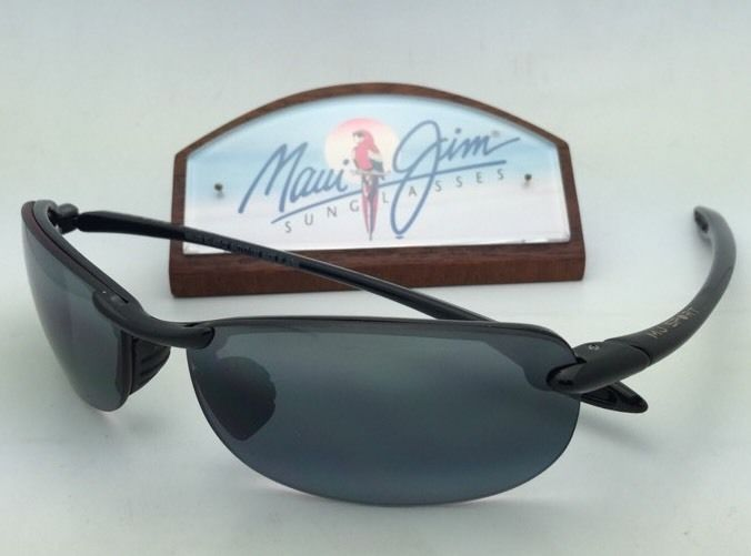 Polarized MAUI JIM Sunglasses MAKAHA MJ 405-02 Black Frame w/Neutral Grey Lenses