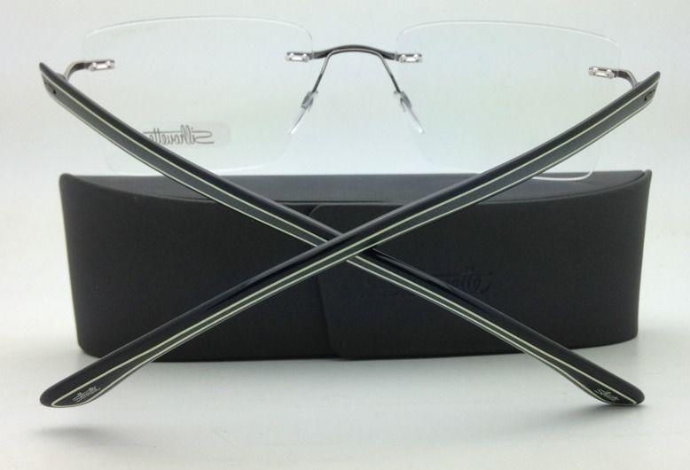 SILHOUETTE Eyeglasses MODERN SHADES 5246 6056 51-19 Yellow-Black w/ Clear lenses